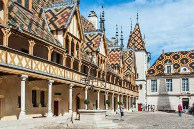 Burgundy-Beaune courtyard.