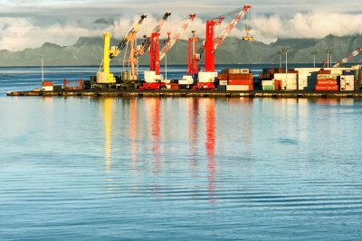 The port of Papeete is the only container port in French Polynesia.