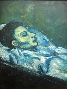 """Casagamas in his Coffin,"" Pablo Picasso 1901 (Private Collection)."