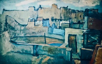 "The Roofs of Barcelona,"" Pablo Picasso, 1903 (Museu Picasso, Barcelona)."