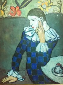 """Seated Harlequin,"" Pablo Picasso, 1901. (The Metropolitan Museum of Art, New York)."