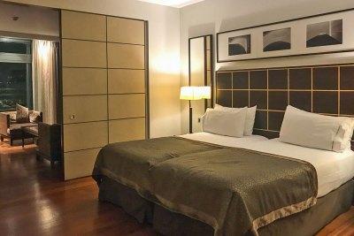 Junior suite at the Eurostars Grand Marina Hotel.