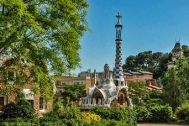 Gaudi-Park Guell gate houses.