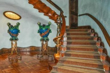 Gaudi-Casa Batllo staircase.