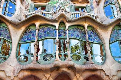Gaudi-Batllo stained glass.