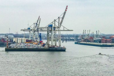 One of Europe's busiest shipping ports, Hamburg handles well over 150 million tonnes of cargo per year.