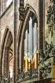 The Chororgel (Chancel Organ), circa 1964, was fully refurbished in 1990.