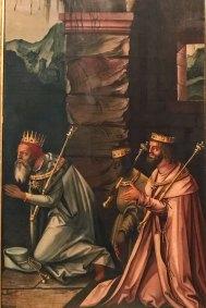 Adoration of the Magi - half right panel. Successor to Matthias Grünewald - 1530. Augustiner Museum).