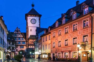 Freiburg by night - Swabentor.