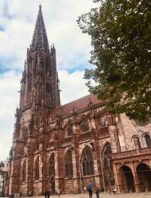 With its delicate spire of filigree stonework, the Freiburg cathedral is considered one of the great Gothic masterpieces in Germany.