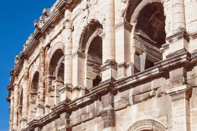 Detail of the facade of the Amphitheater.