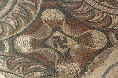 Loupian Roman Villa - Mosaics details (2).