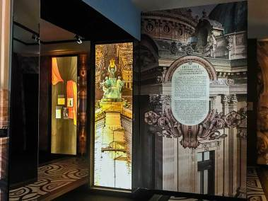 Entrance to the Dressing the Opera exhibition.