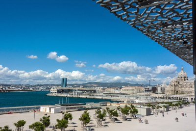 The MuCEM offers a panoramic view of the Bay of Marseille.