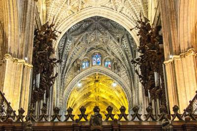 The nave of the Seville Cathedral.
