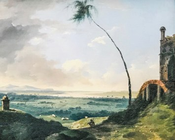 Sepulture with a view of the Rajmahal Hills (1782. William Hodges, oil on canvas).