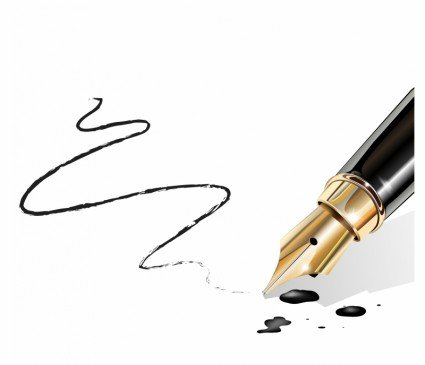 fountain_pen_writing_paper_with_black_ink_313098