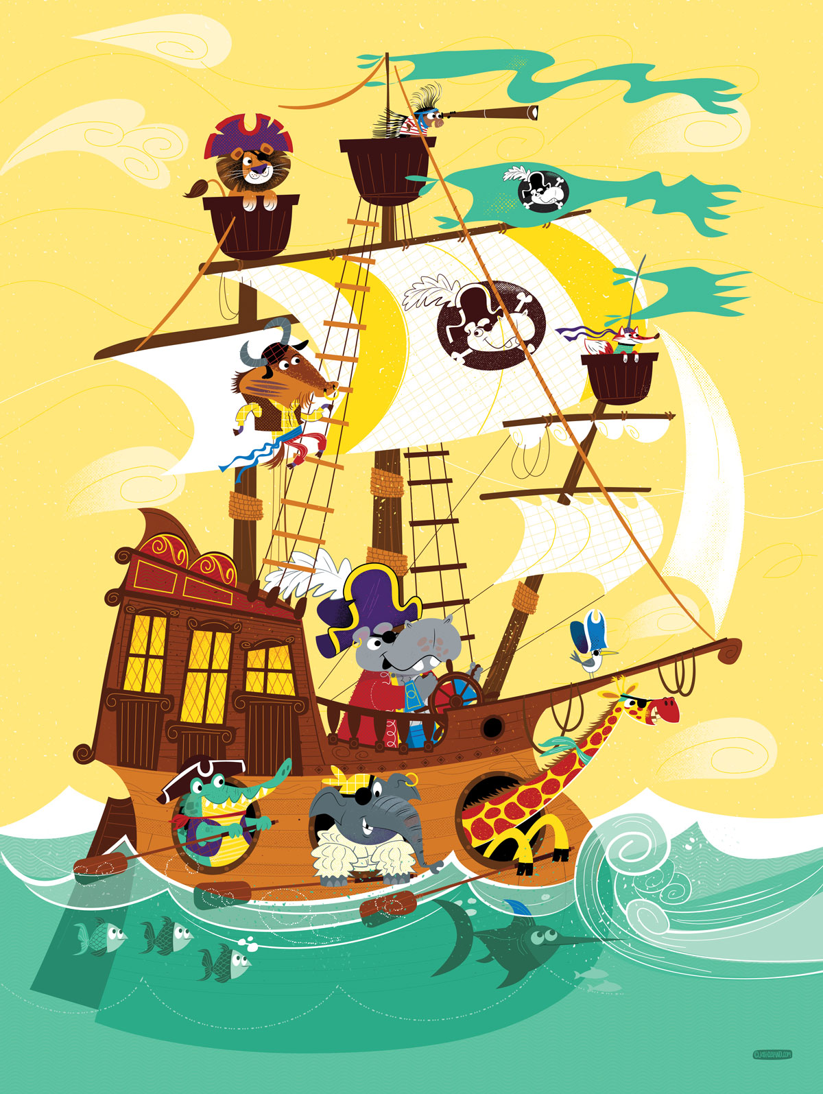 Animal Pirate Ship