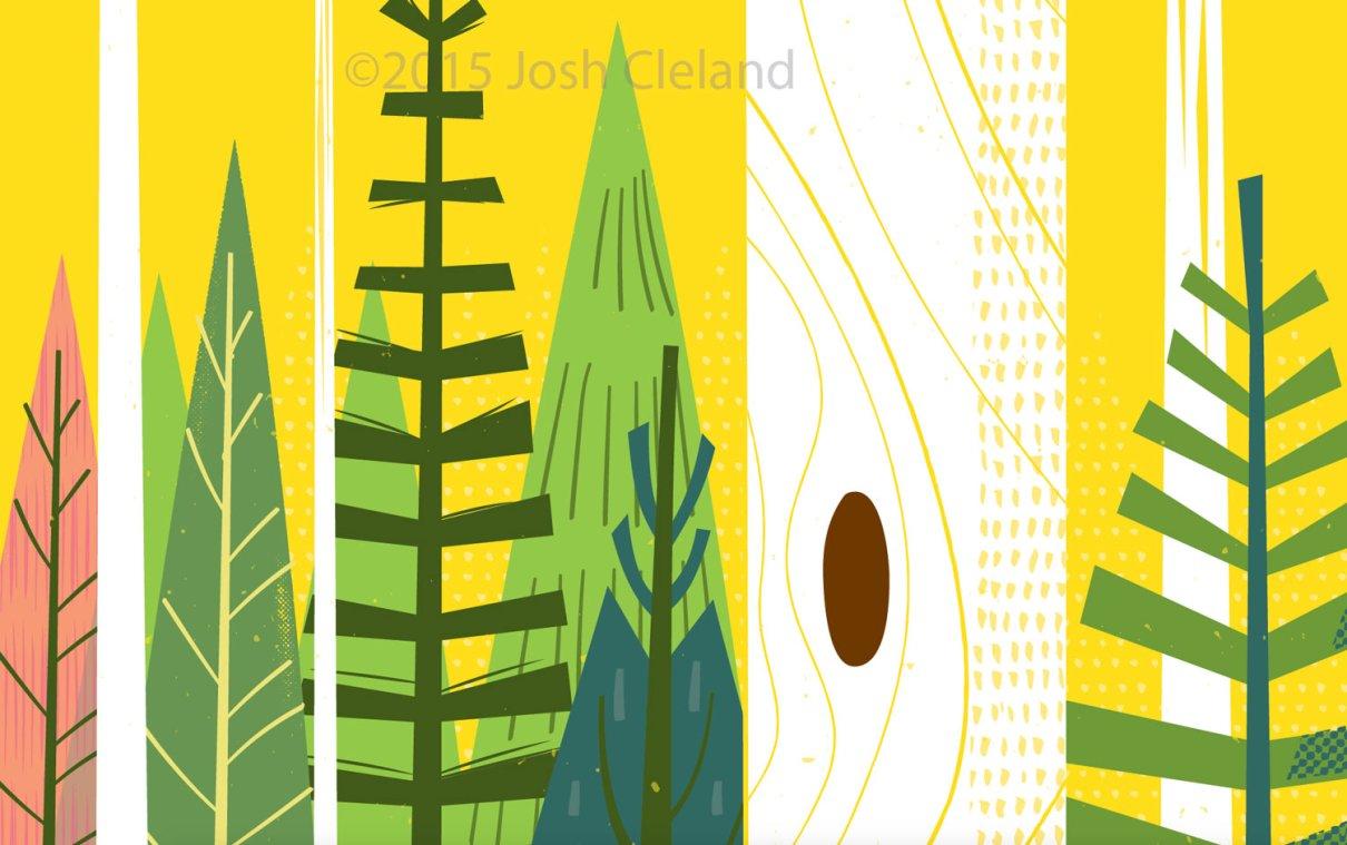 Joyful woods detail 1