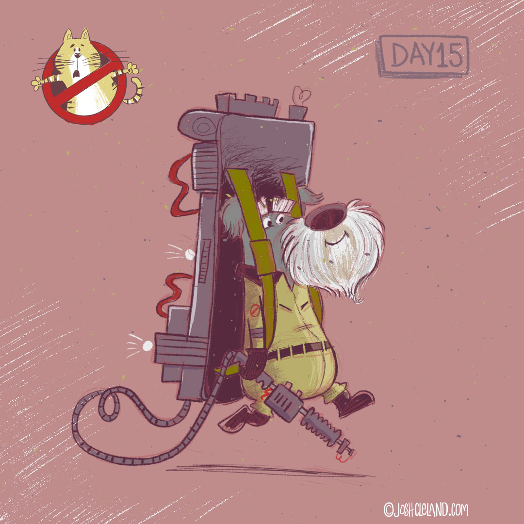 Ghostbusters illustration by Josh Cleland