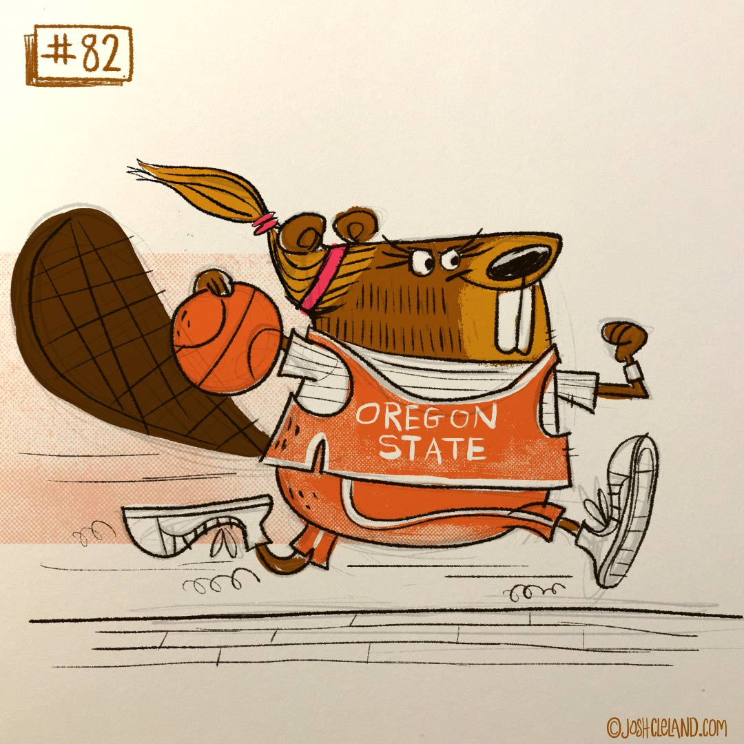 Land of Cle beaver illustration by Josh Cleland
