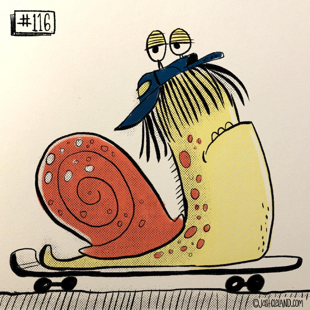 LAND of CLE by illustrator Josh Cleland snail illustration