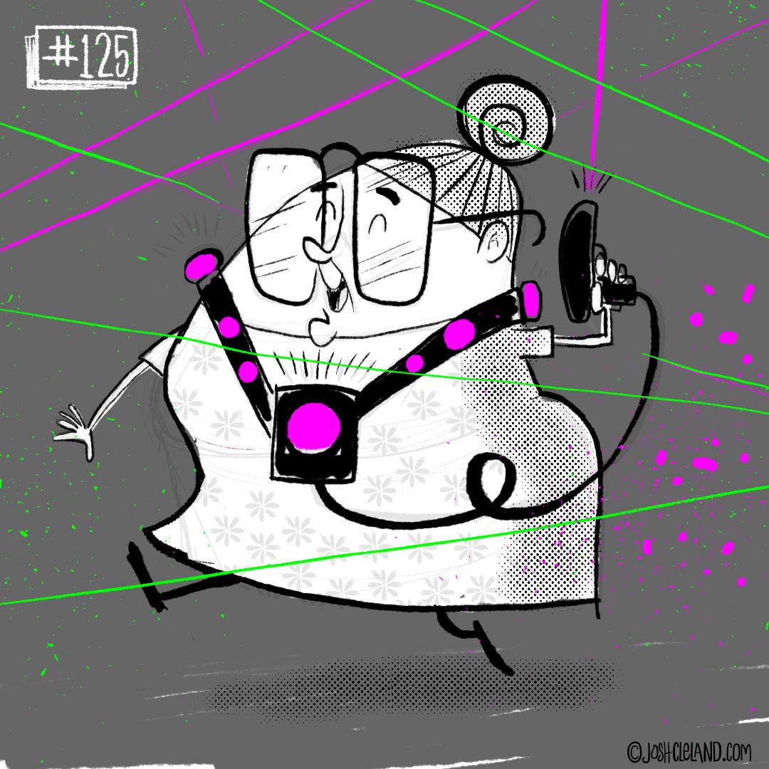 LAND of CLE by illustrator Josh Cleland laser tag illustration