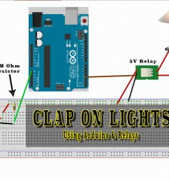 clap on lights arduino with 12v relay [ 1794 x 1138 Pixel ]
