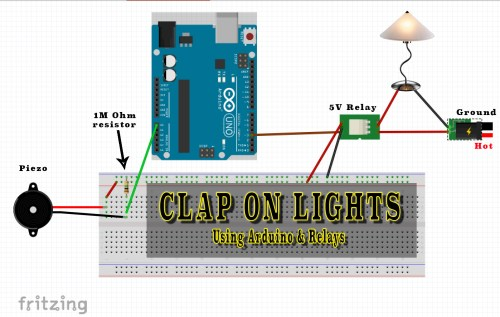small resolution of clap on lights arduino with 12v relay