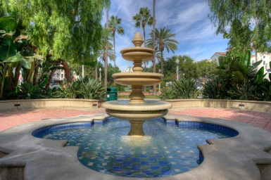 Small Fountain at Crescent Park in Playa Vista, CA