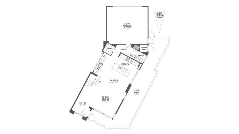 Encore Playa Vista Plan 3 Floor 1