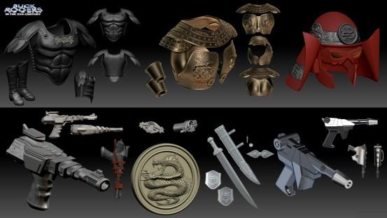 Buck Rogers Accessories (ZICA Toys)