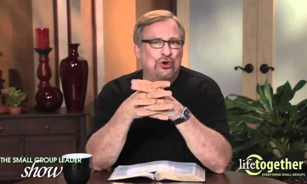 Biblical basis of Small Groups — Rick Warren