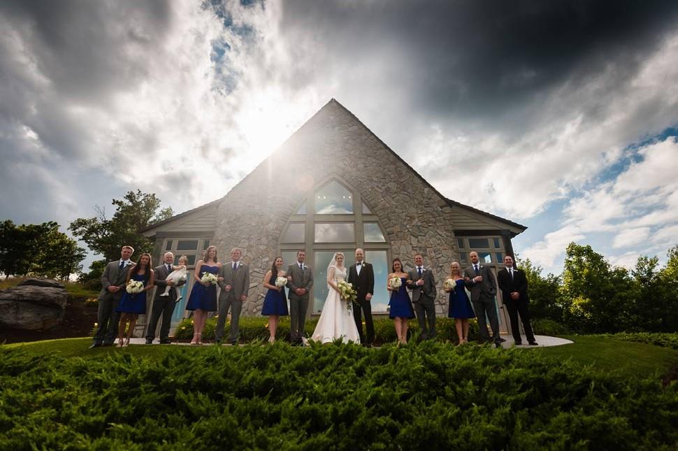 Cliffs at Glassy Chapel Wedding Photos  J Jones Photography