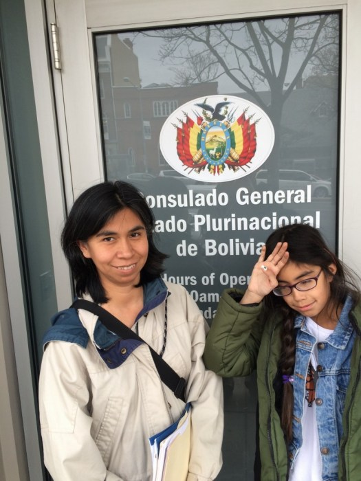 Jadzia's take on our morning at the Bolivian consulate.