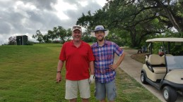 Josh with Uncle Jerry at the Fort Sam Houston golf course. (Photo by Joe Renaud)