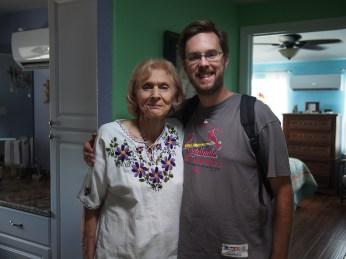 Grandma Renaud shows me her new apartment.