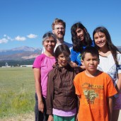 Pulled off the highway in Colorado to take a family photo in front of Pike's Peak