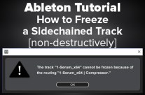Ableton Tutorial: How to Freeze a Sidechained Track [non-destructively]