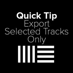 Ableton Tutorial: Export Selected Tracks Only