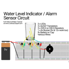 DIY – Water Level Alarm Breadboard Prototype [Step 2]
