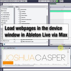 Max 4 Live: Loading Webpages in Device Window