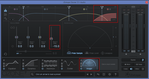 reduce stereo field mastering soundcloud