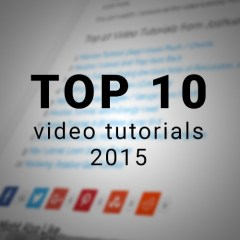 Top 10 Video Tutorials of 2015