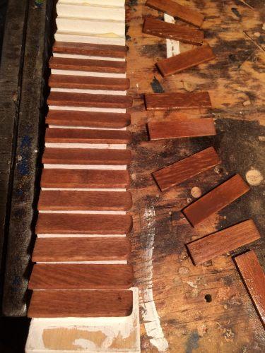 glue stair treads.