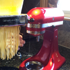 Kitchen Aid Pasta Attachment Luxury Cabinets How To Make Homemade Fresh