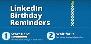 Screenshot of LinkedIn Birthday Reminders