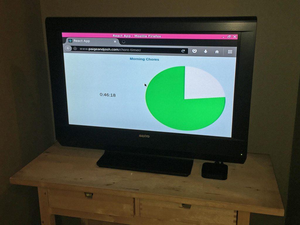 Chore Timer screen