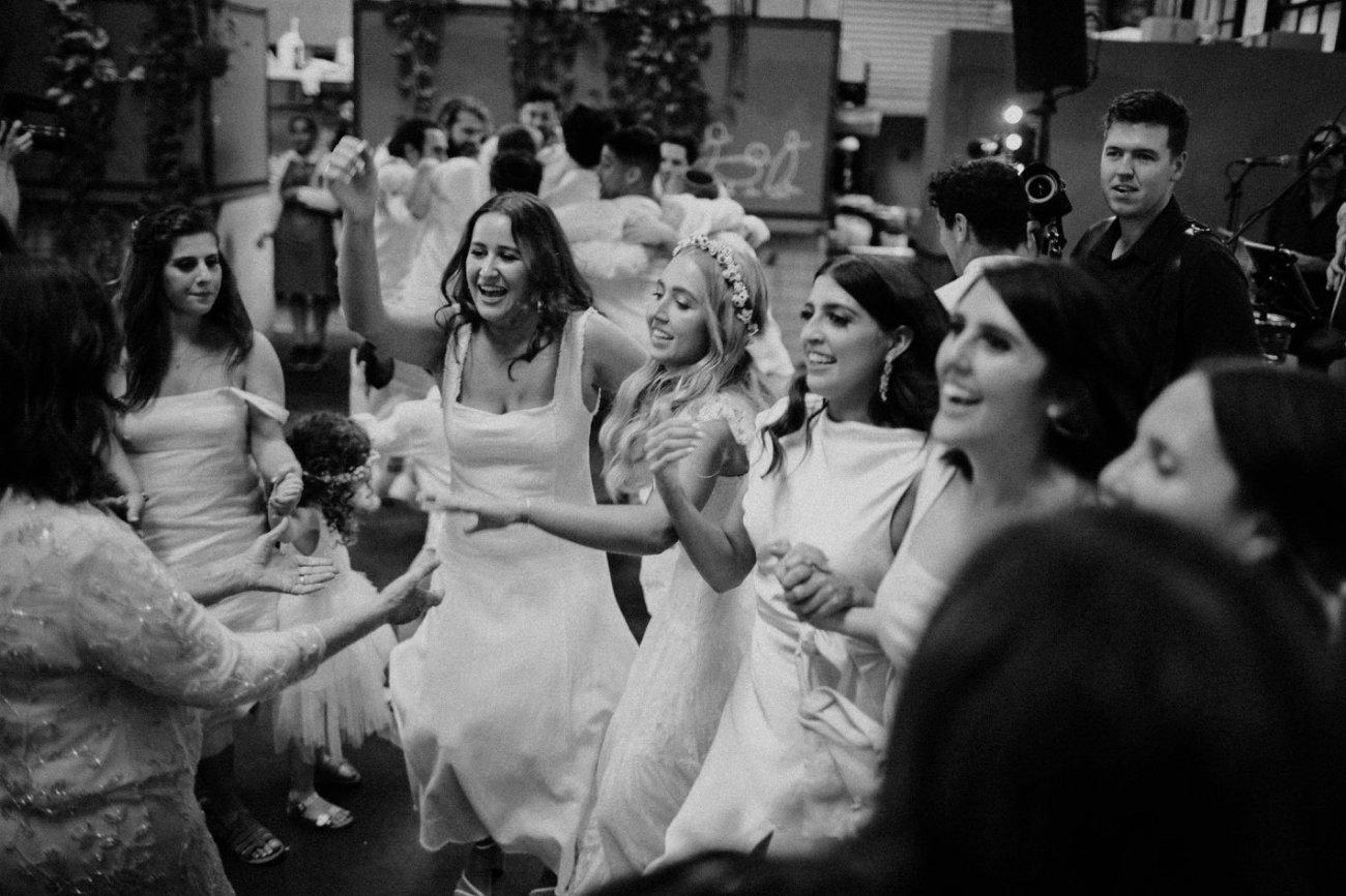 Jewish wedding at three blue ducks