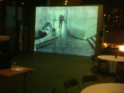 huge projection wall